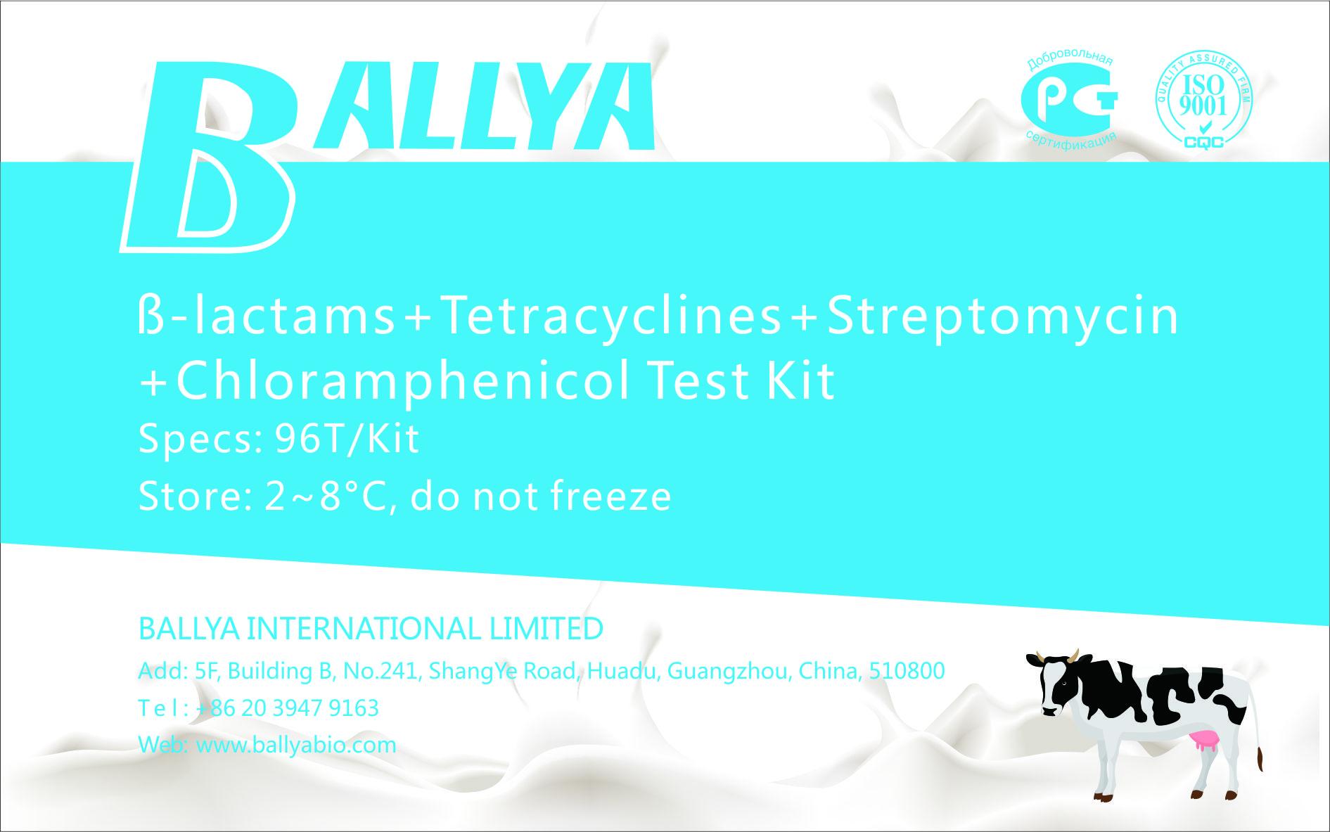 ß-lactams-Tetracyclines-Streptomycin