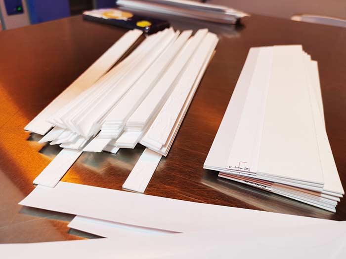uncut-sheet-flow-test in manufacturing process